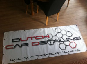 Banner / Spandoek van Dutch Car Detailing - Voor al uw Car Detailing Supplies